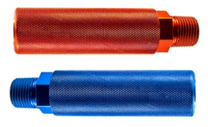 Red and Blue Gladhand Handle, Grip, Aluminum, 1/2